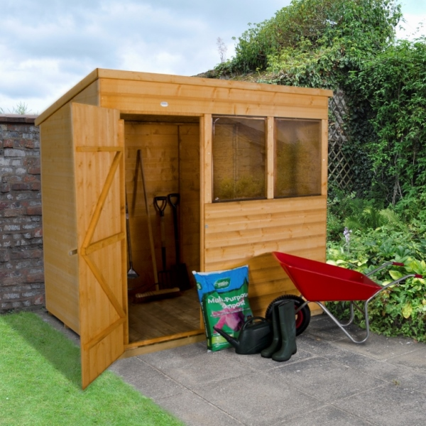 Shiplap Dip Treated 7 x 5 Pent Shed