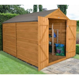 Overlap Dip Treated 8 x 10 Apex Double Door Shed - No Window