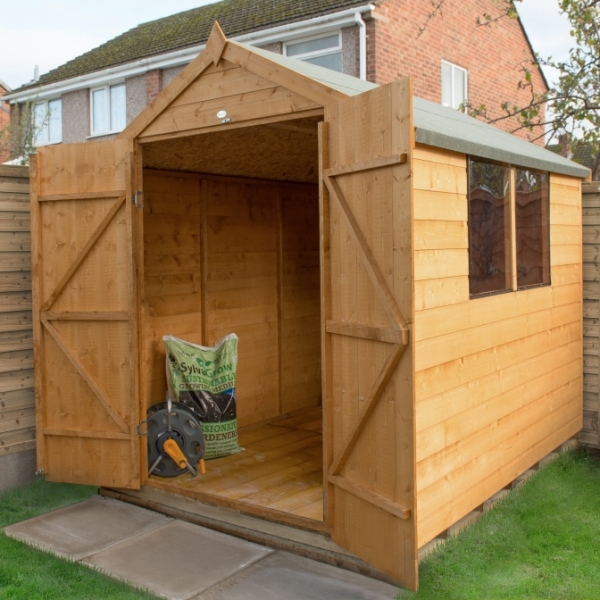 Shiplap Dip Treated 6 x 8 Apex Double Door Shed