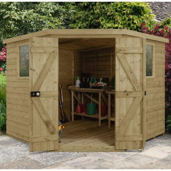 Tongue And Groove Pressure Treated 8 x 8 Corner Shed