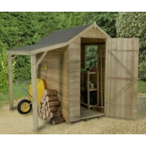 Overlap Pressure Treated 4 x 6 Shed With Lean To
