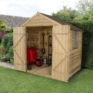 forest 7 x 5 pressure treated double door shed