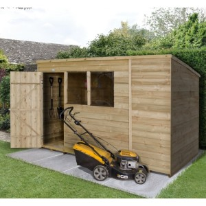 Overlap Pressure Treated 10 x 6 Pent Shed