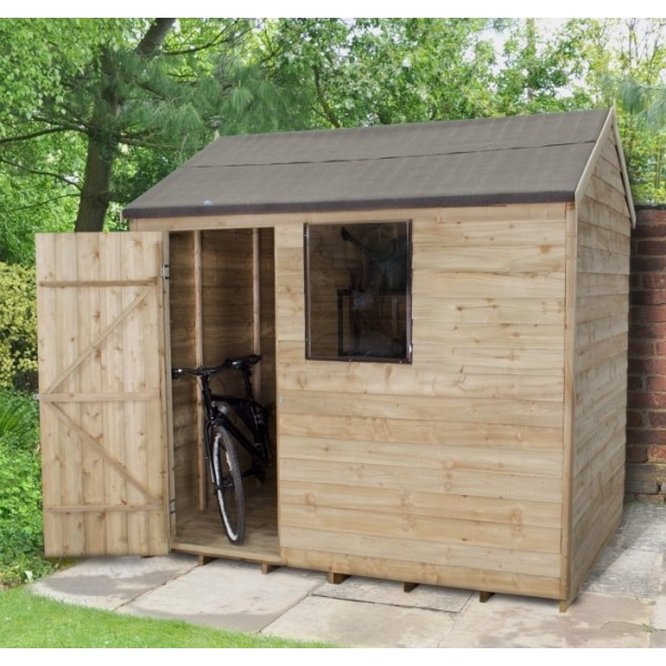 Overlap Pressure Treated 8 x 6 Reverse Apex Shed