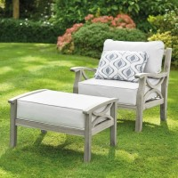 Sorrento Armchair and Footrest - Grey