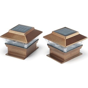 Solar Post Lights Pk of 2