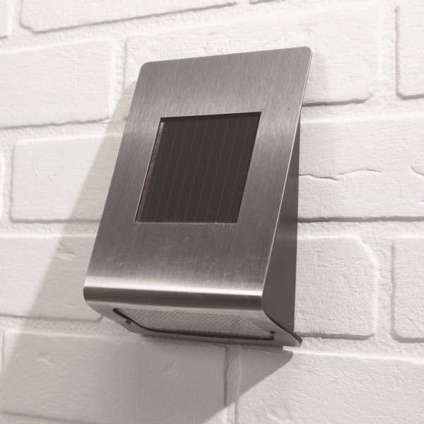 stainless steel solar wall lights pack of 2