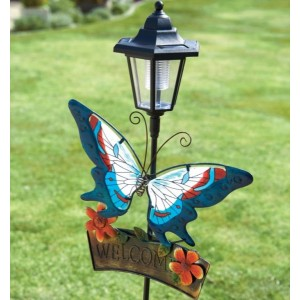 Welcome Butterfly Solar Light