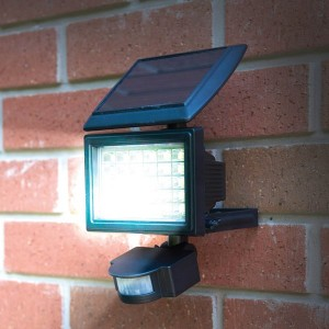 Solar LED Floodlight with Motion Sensor