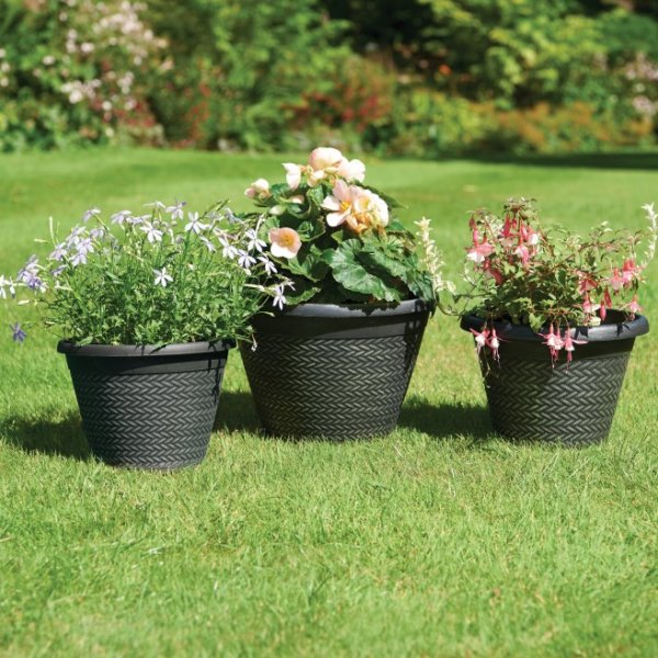 Wicker Effect Planters (Pack of 3)