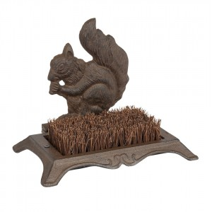 Squirrel Cast Iron Boot Scraper