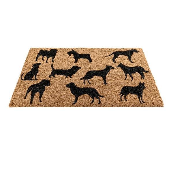 Dog Montage Coir Doormat