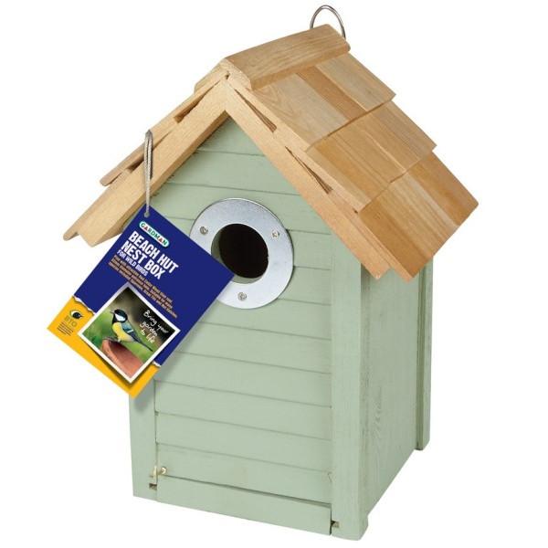 Beach Hut Nest Box - Sage Green