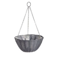 Rattan Effect Hanging Basket