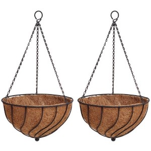 Spiral Hanging Basket - Twin Pack