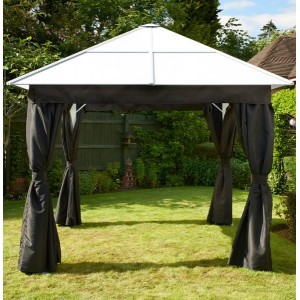 Ebony Polycarbonate Gazebo