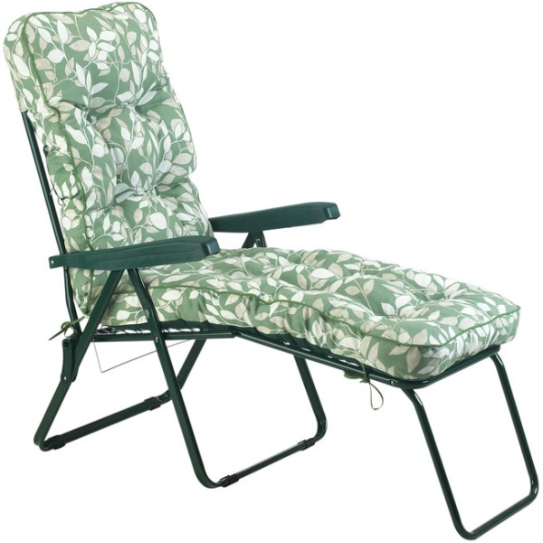 Cotswold Leaf Padded Sun Lounger