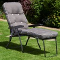 Charcoal Grey Padded Lounger