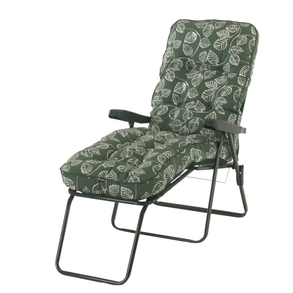 Aspen Leaf Padded Sun Lounger