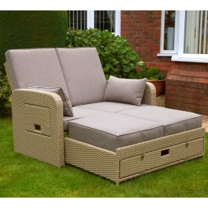 Amiens Twin Seat Sunlounger