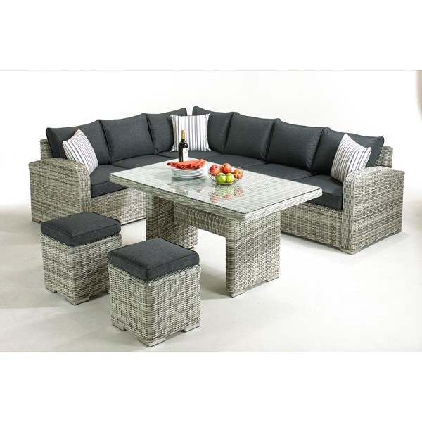 Broadway 5 Piece Rattan Corner Sofa Set
