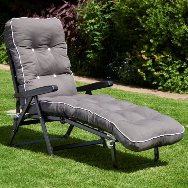 Charcoal Grey Luxury Sunbed