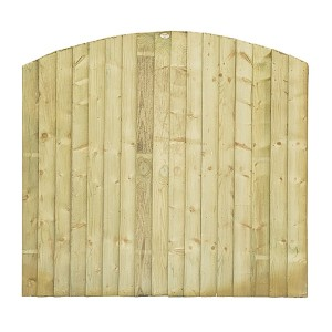 Dome Feather Edge Fence Panel