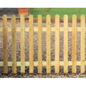 Round Top Palisade Fence Panel