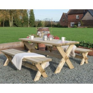 Classic Garden Table and Bench Set