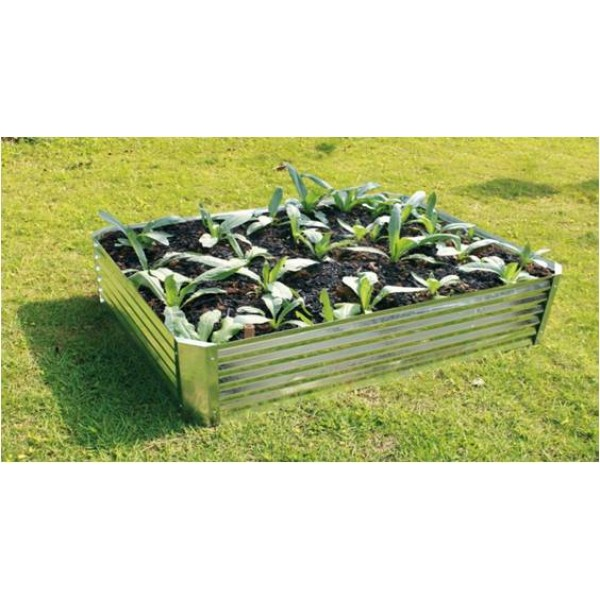 Galvanised Rectangular Raised Bed