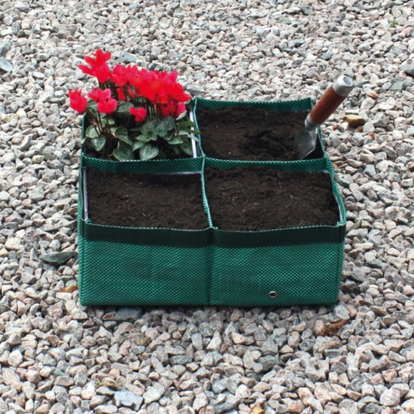 Square Four Section Planter