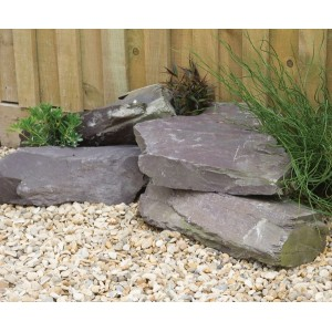 Large Plum Slate Rockery Stone: 40 Pieces
