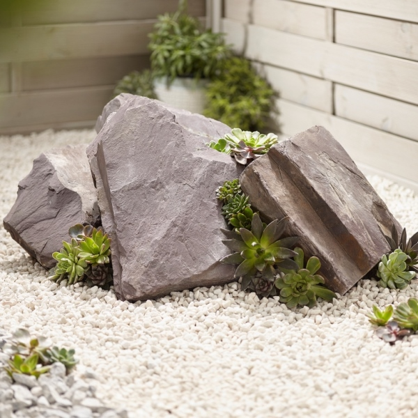 Plum Slate Rockery Stone: 80 Pieces