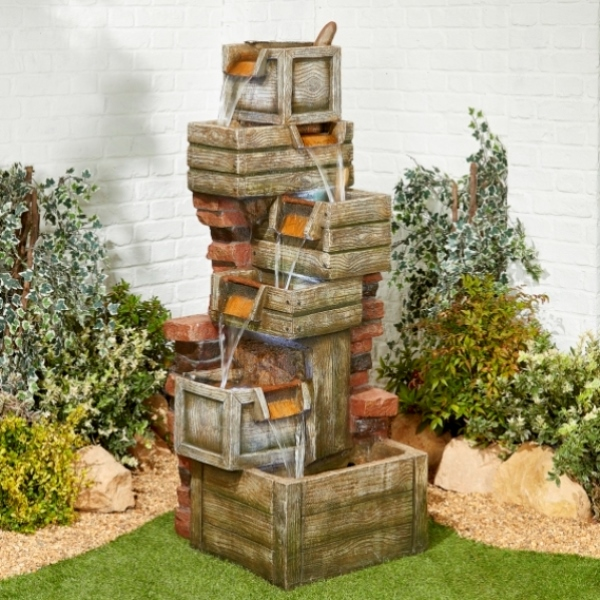 Waterfall Crates Water Feature