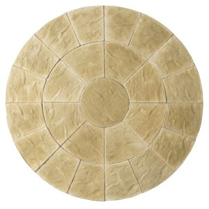 Abbey York Gold Circle Patio Kit