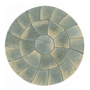 Abbey Twist Antique Circle Patio Kit