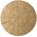 Minster Autumn Brown Circle Patio Kit