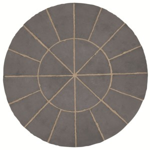 Minster Graphite Circle Patio Kit
