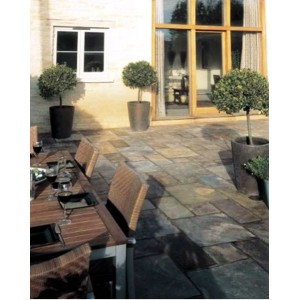 Natural Slate Rustic Bronze Patio Kit