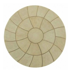 Abbey Twist York Gold Circle Patio Kit