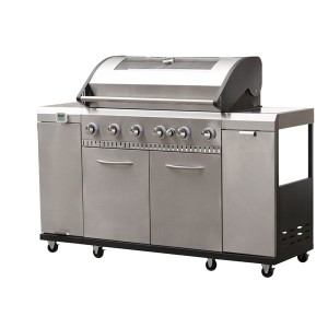 Grill Chef Premium 6 Burner Gas Barbecue