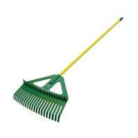Combination Leaf Rake With Steel Handle