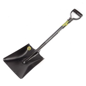 Heavy Duty Square Mouth Shovel with Steel Shaft