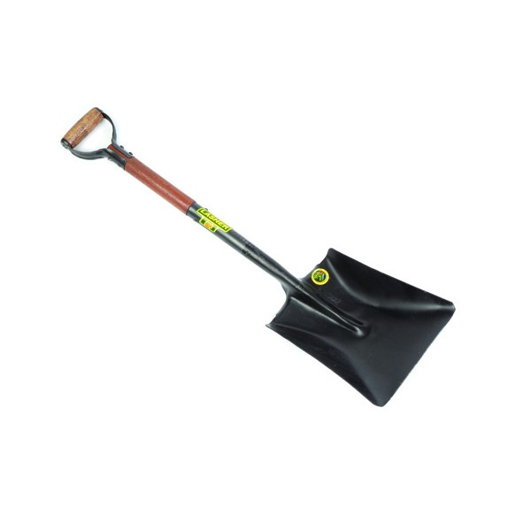 Heavy Duty Square Mouth Shovel with Wooden Shaft