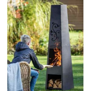 Chiminea With Floral Flu Design