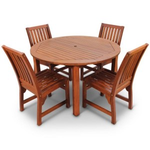 Devon 4 Seater Round Dining Set