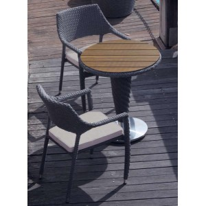 Oasis Curved Rattan Bistro Set