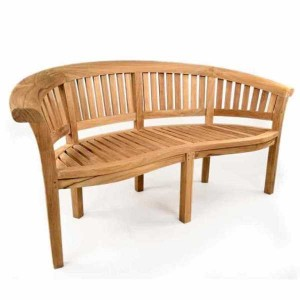 Windsor Curved 3 Seat Teak Bench