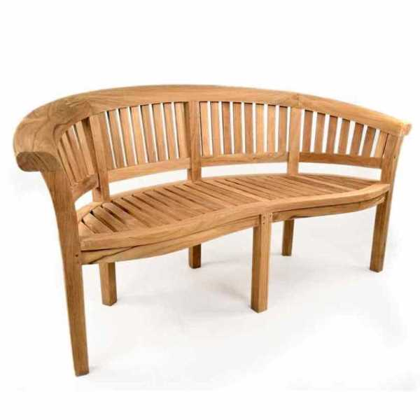 Windsor curved 3 seat teak bench - Made to measure bench seating ...