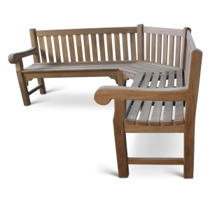 Queensbury Corner Teak Bench